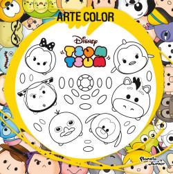 Arte Color Tsum Tsum Disney Planeta De Libros